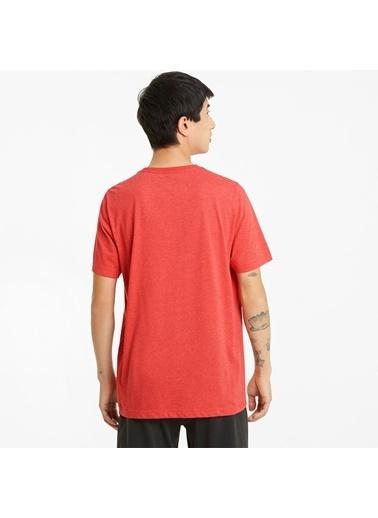 Puma Ess Heather Tee Erkek Kısa Kol T-Shirt Kırmızı